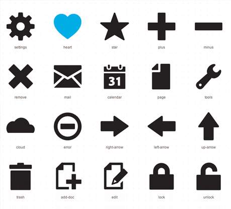Thousands of free Vector icons and Icon Webfonts for Interfaces and Responsive web design