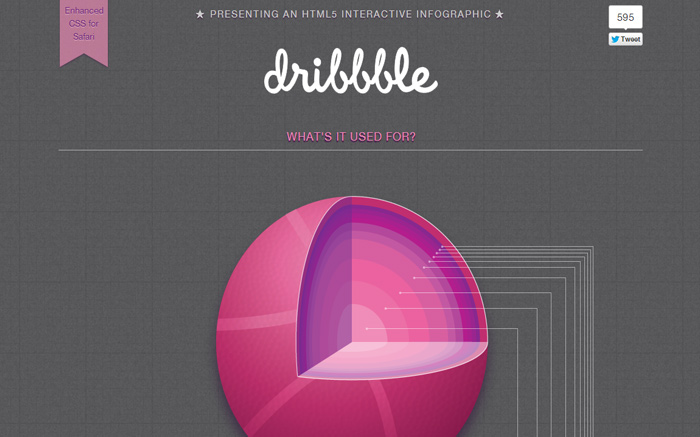 Dribbble Interactive Infographic