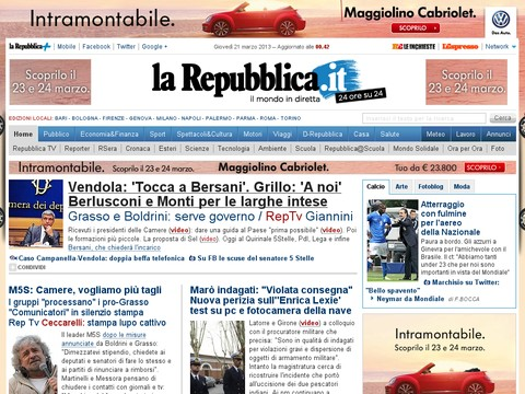 La Repubblica.it - Homepage