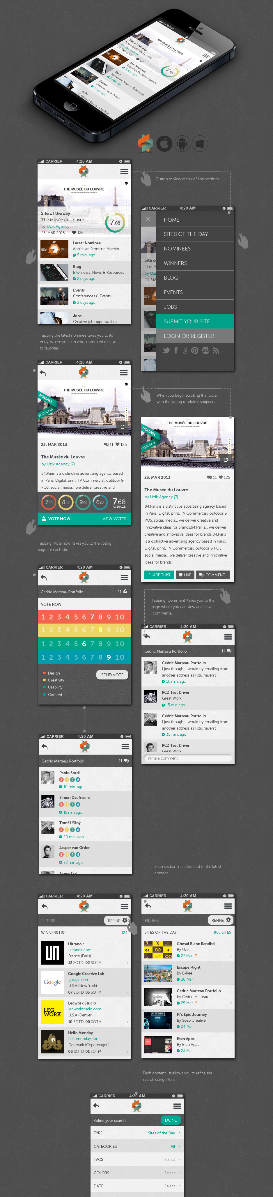 App Design Ideas 50 cool finance app ui design for inspiration smashfreakz Help Us Create The New Awwwards Mobile App