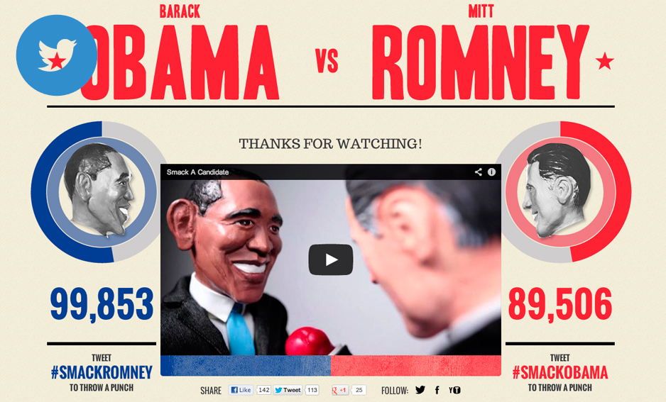 Barack Obama vs Mitt Romney