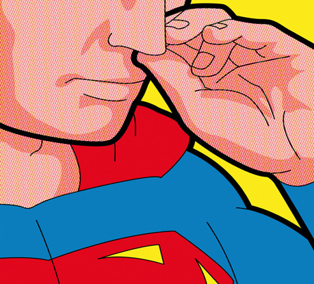 The Secret Life of Heroes. Pop Art Illustrations