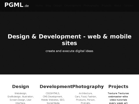 pgml.de Webdesign - Development - Photography