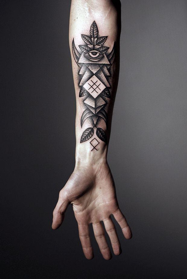 Innovative geometric tattoo inspiration for Geometric arm tattoos for men