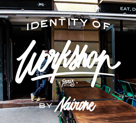 Lettering Process on Video: Nairone's Visual Identity for Workshop Paris