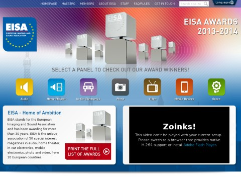 EISA Awards 2013-2014 | EISA - The European Imaging and Sound Association