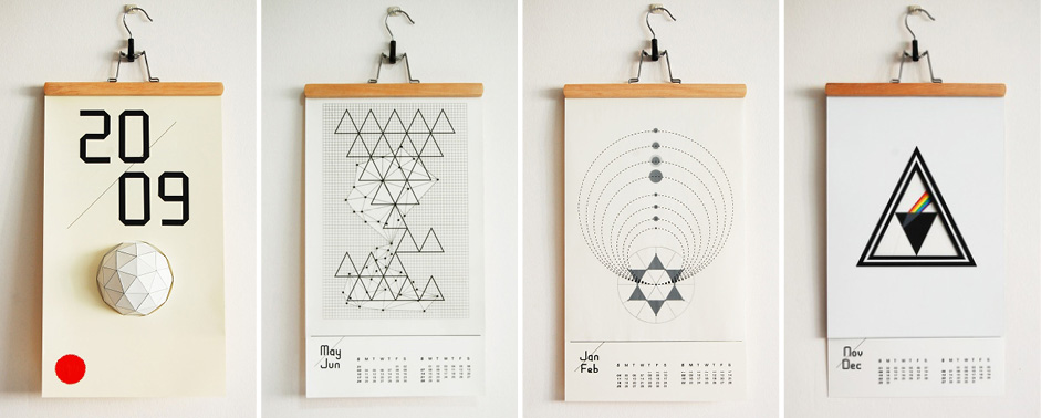 Unusual Calendar Design : Creative calendar designs