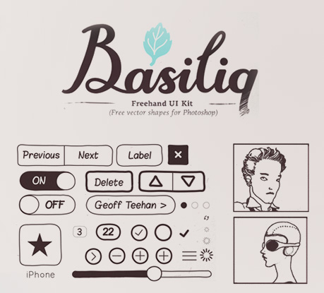 Basiliq Freehand UI Kit: A Free Set Of Icons For Mockups