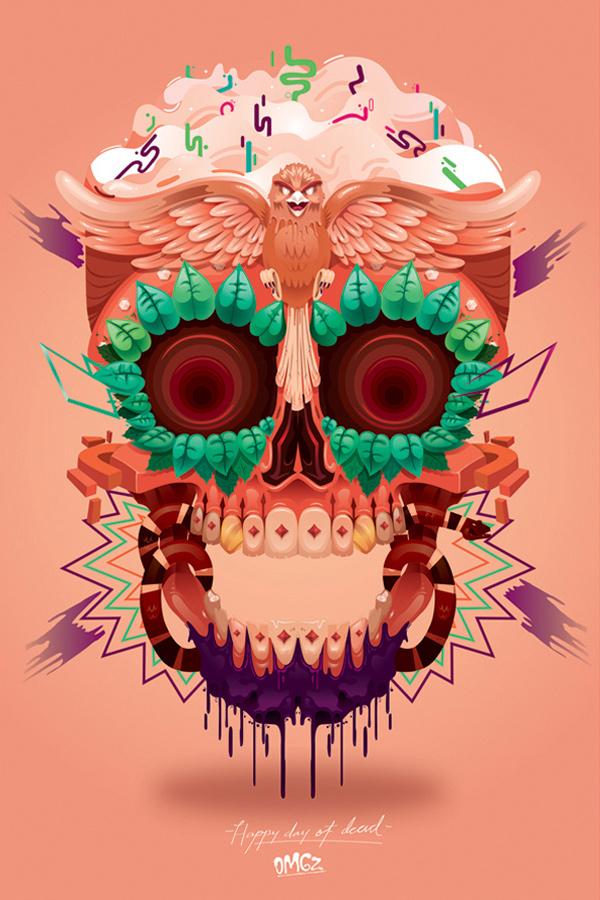 Dia De La Muertos Face Painting