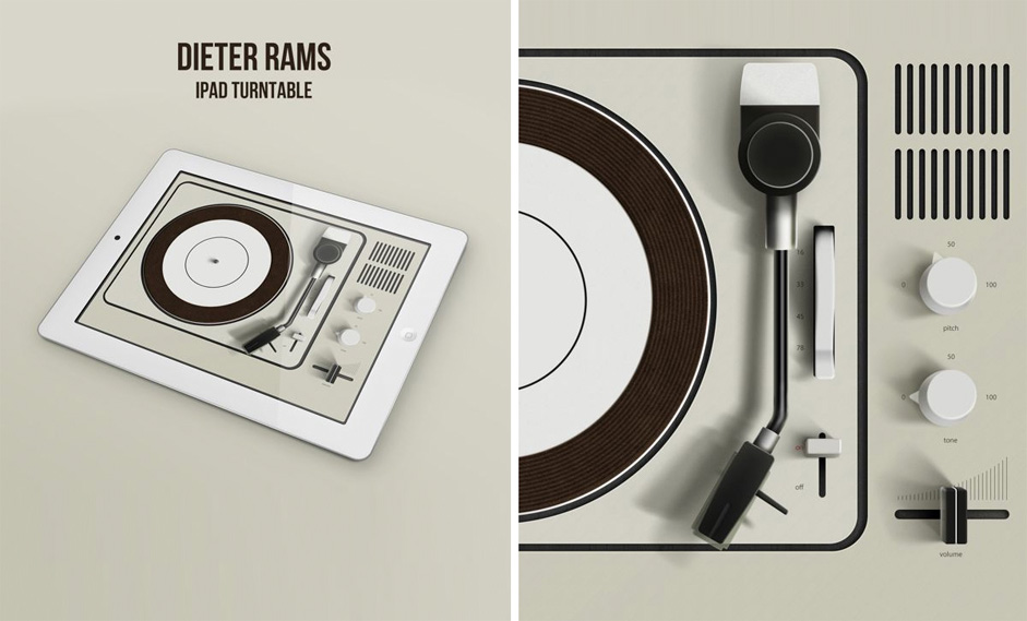 Dieter Rams Ipad Turntable
