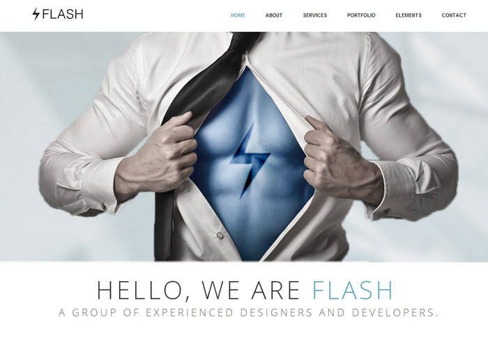 Flash - Responsive One Page