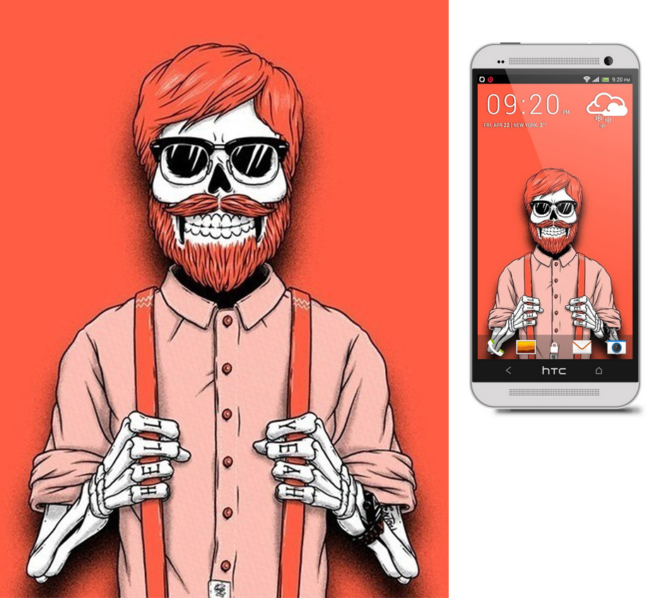 Hipster skeleton wallpapers