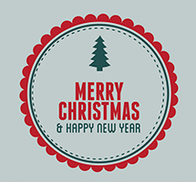 Free 20 Customizable Flat Style Christmas Cards from Freepik