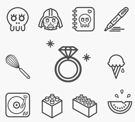 Great Collection of Free Vector Icons and Pictograms for Interfaces and Responsive Web Design
