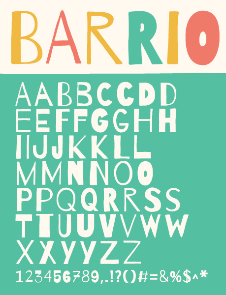 Barrio Is Based On Hand Lettering And Revives The Freshness Of Sidewalk Sellers