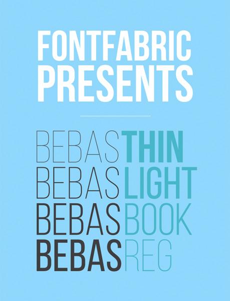 free fonts 2014 Bebas Neue