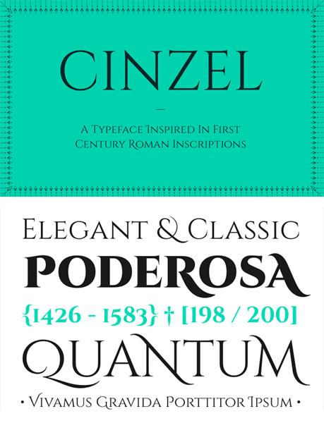free fonts 2014 Cinzel