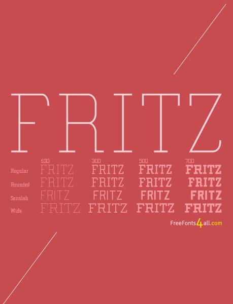 free fonts 2014 Fritz
