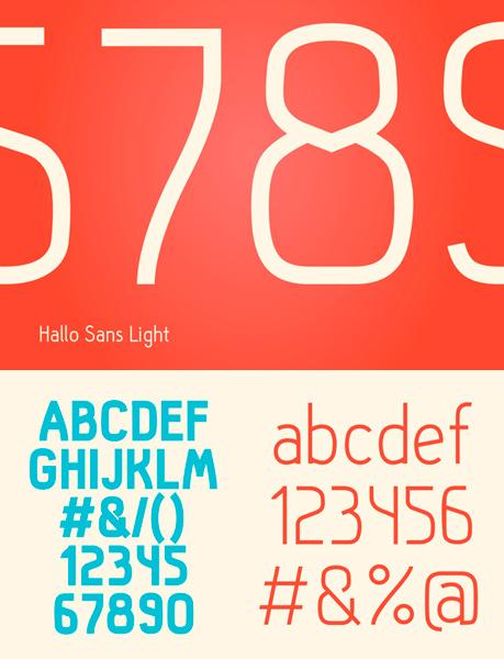 free fonts 2014 Hallo