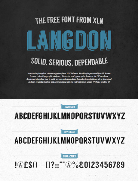 free fonts 2014 Langdon