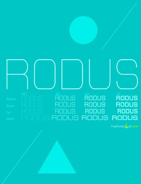free fonts 2014 Rodus