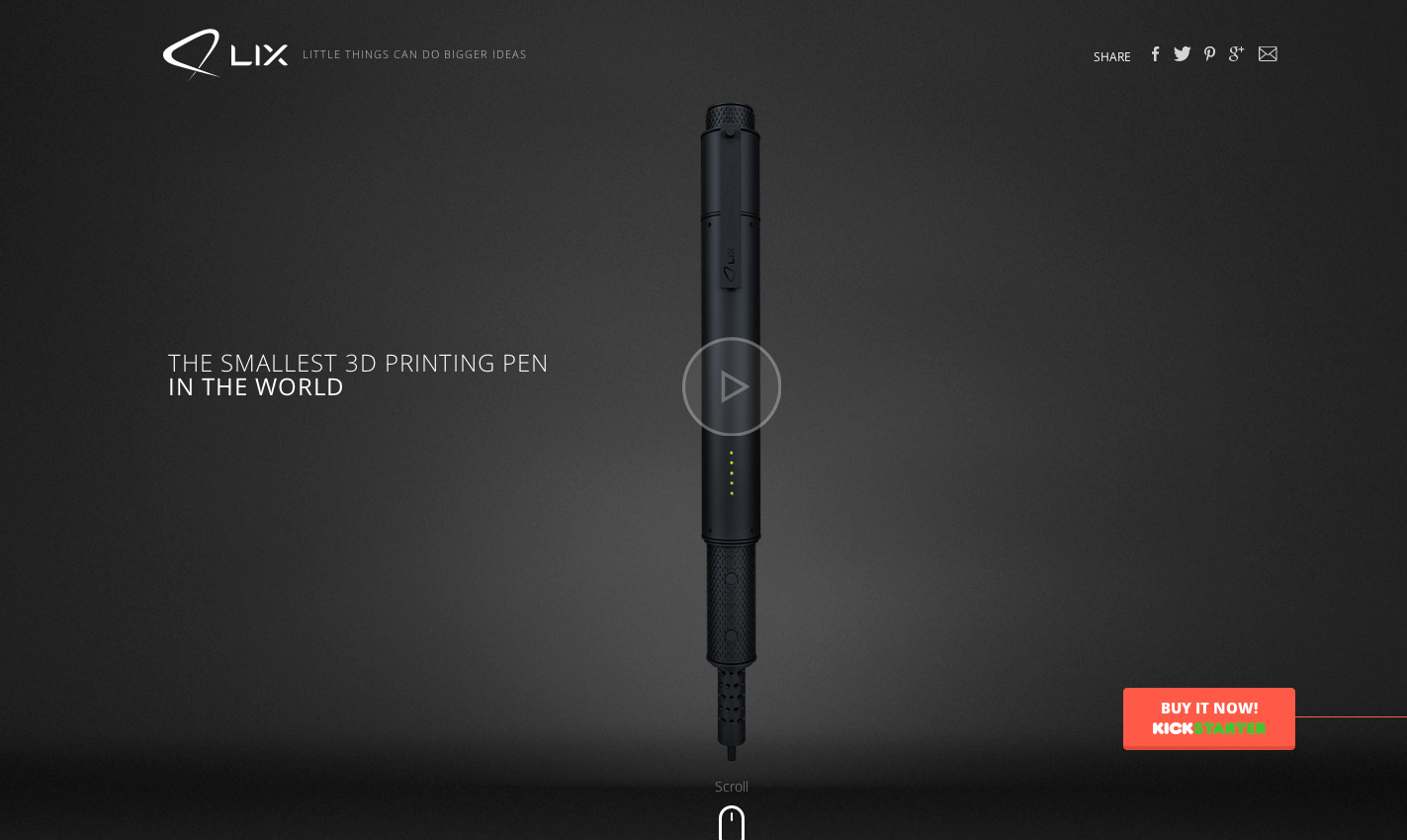 Lix the smallest 3d printing pen in the world site of the day may