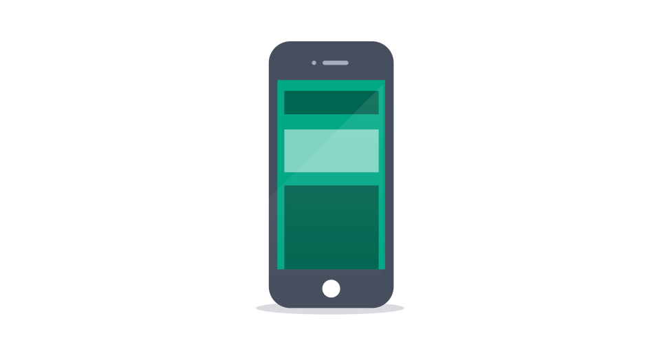 Scrolling sites, with vertically stacked content, play well on mobile devices