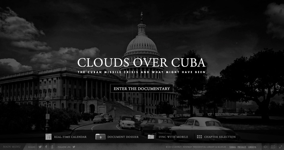 Clouds over cuba is an incredibly engaging and informative fullscreen experience