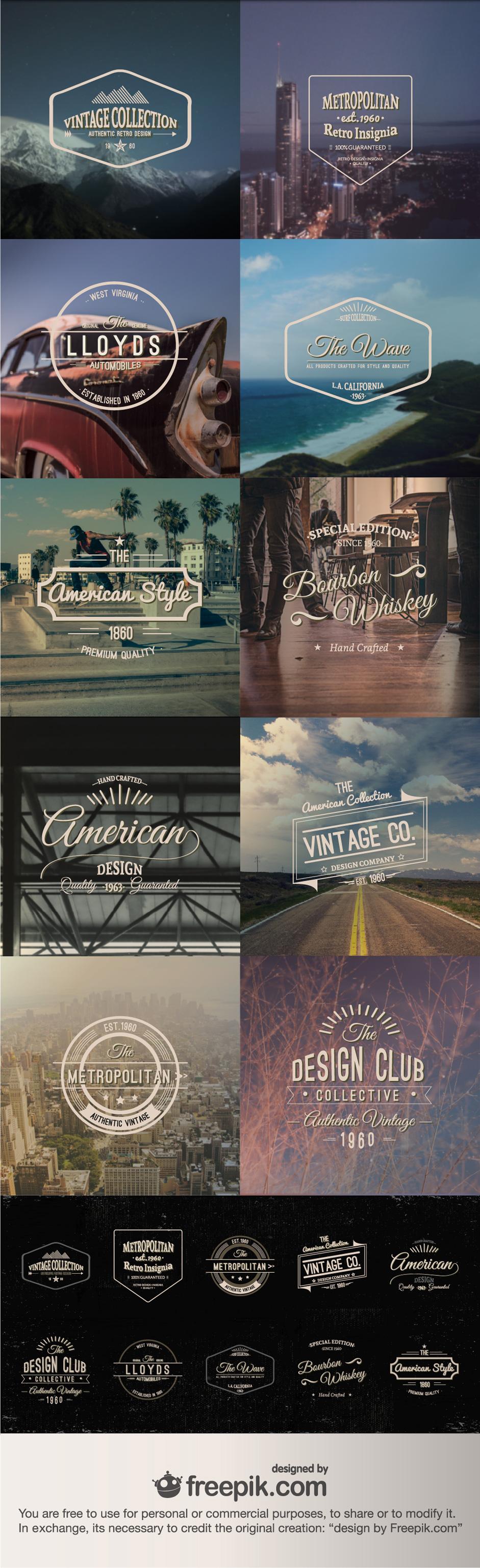 Vector Freebie Vintage Insignias