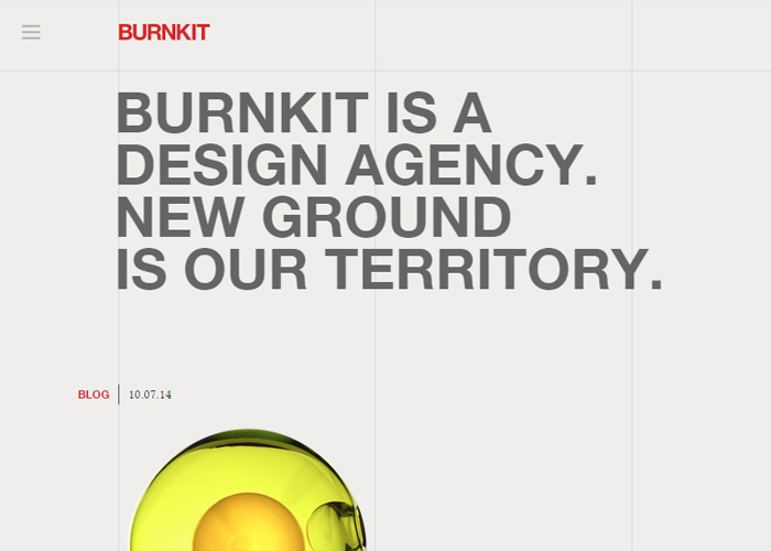 Awwwards website of the day: Burnkit