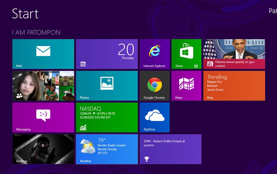 Microsoft Windows 8 UI