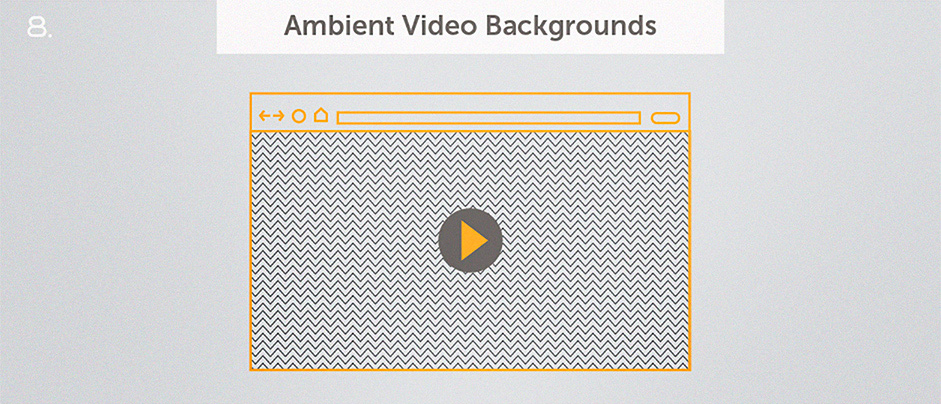 Top 10 Web Design Topics of 2014 - Video Backgrounds