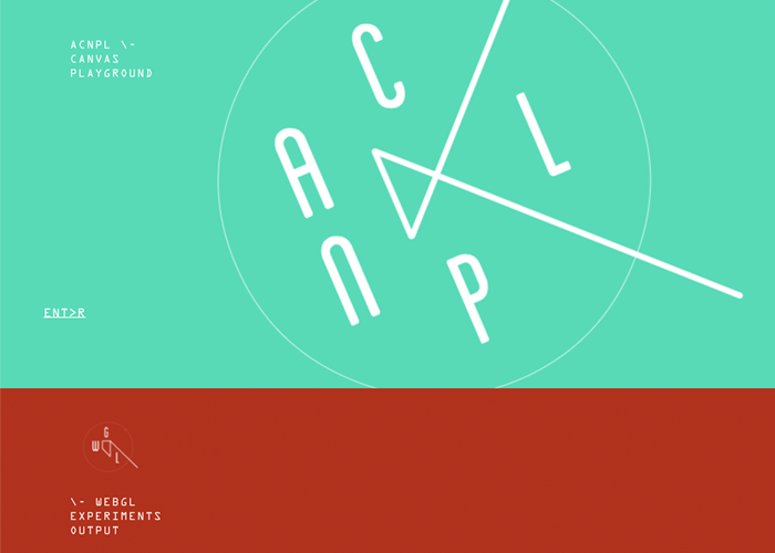 Awwwards website of the day: ACNPL\WGL