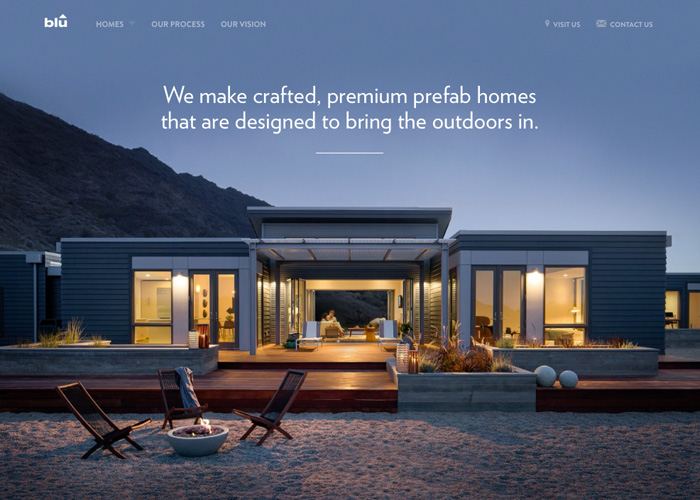 Awwwards website of the day: Blu Homes