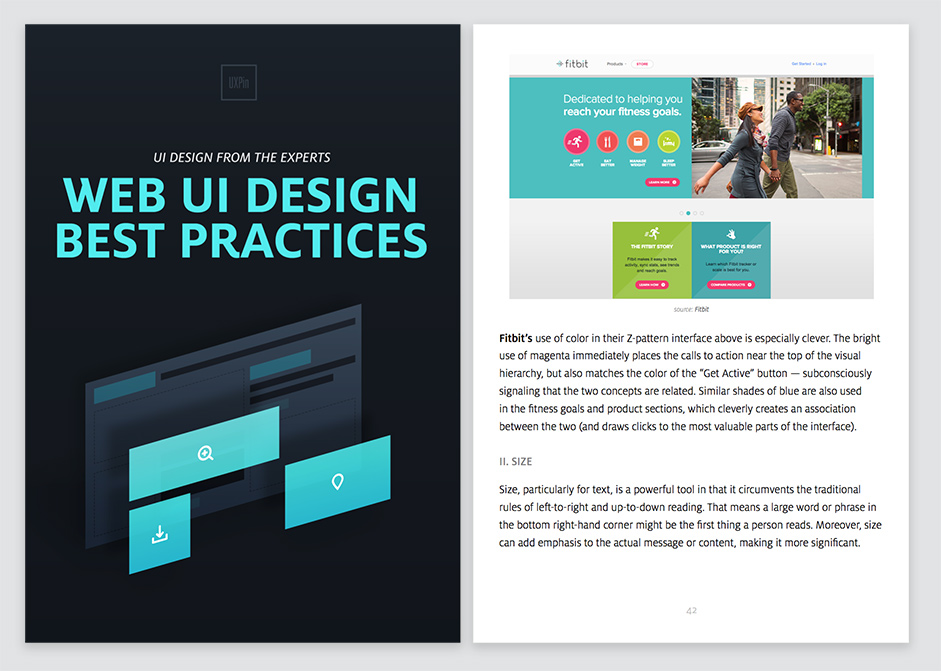 Photo of the e-book Web UI Design Best Practices