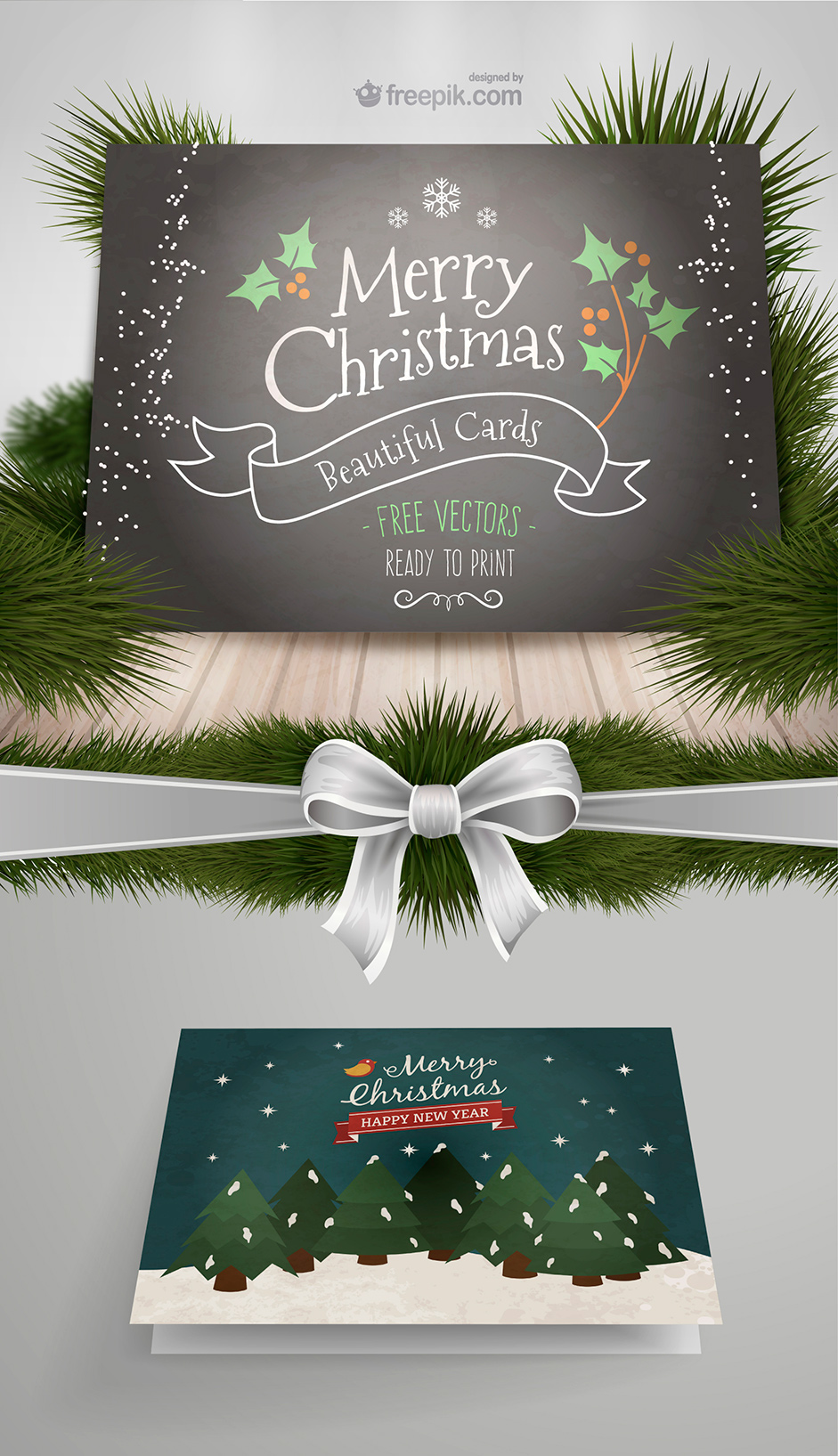 10 New Xmas Cards from Freepik and More Free Resources for your ...