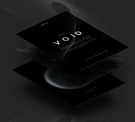 Void, the experimental site of Hi-Res! Site of the Month for July!