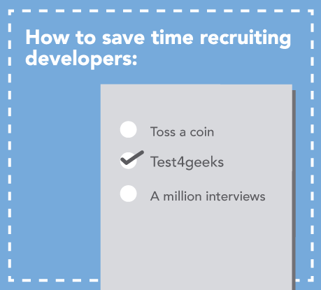 Speed up the recruitment process with online tests for developers.