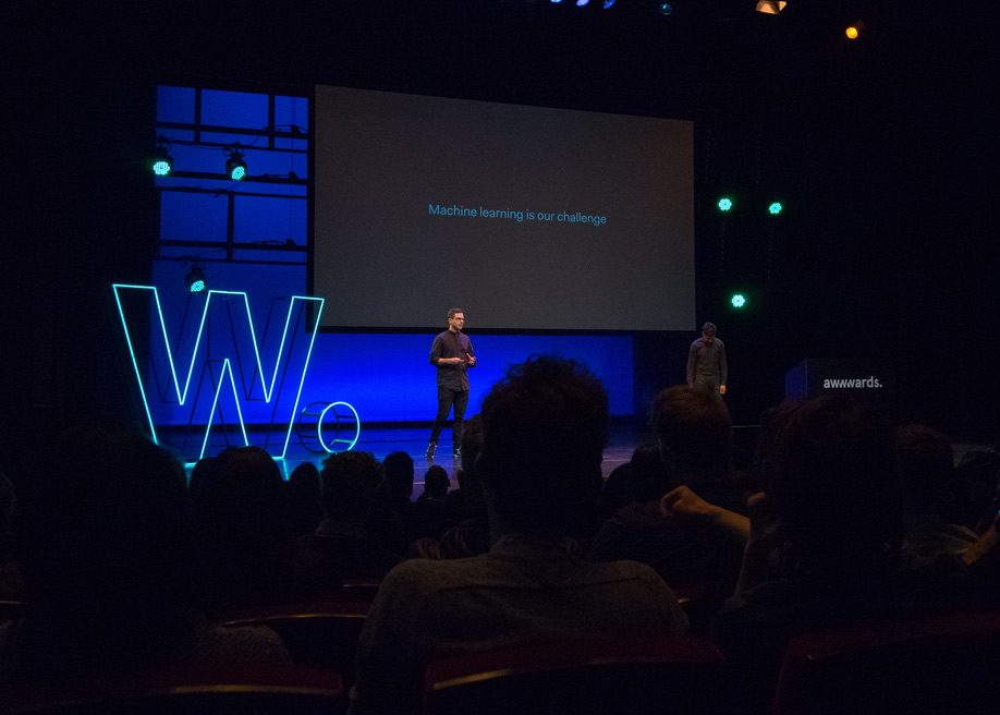 Talk: Machine Learning is a UX Problem, Joël Van Bodegraven & Pedro Marques from Adyen at Awwwards Conference Amsterdam