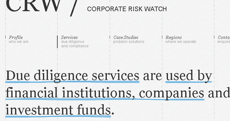 CRW / Corporate Risk Watch