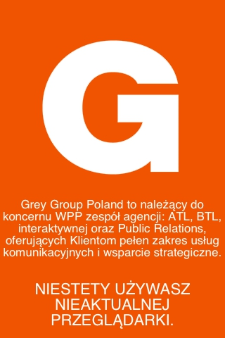 GREY GROUP POLAND - one page website