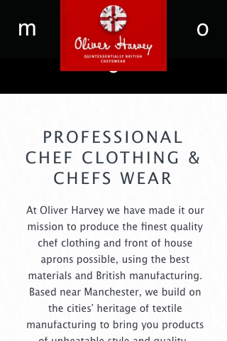 Oliver Harvey Chefs Wear