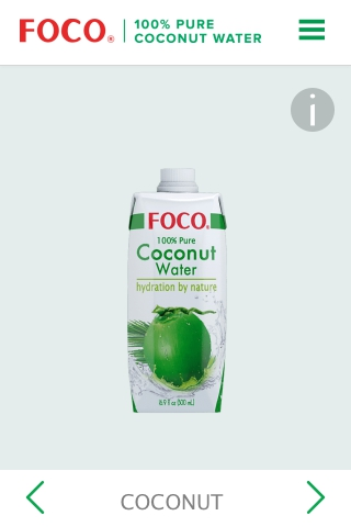 Foco 100% Pure Coconut Water