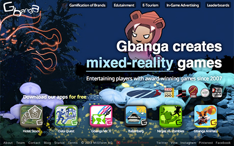 Gbanga, mixed-reality games