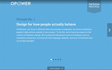 Opower Design Principles