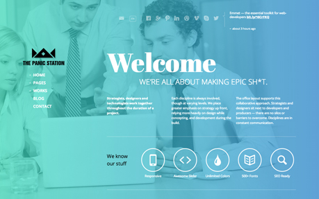 Panic WordPress Theme