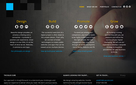 The Blue Cube Web Design