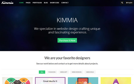 Kimmia Responsive Creative WordPress Theme