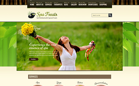 Spa Treats Responsive WP Theme
