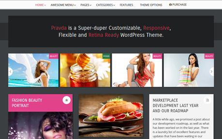 Pravda Retina WordPress Theme